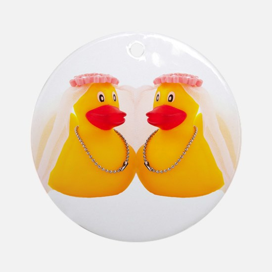 DUCK BRIDES Ornament (Round)