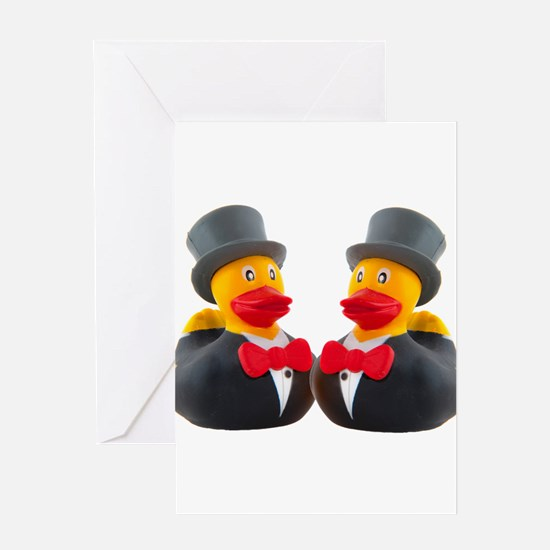 DUCK GROOMS Greeting Card