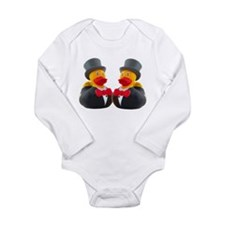 DUCK GROOMS Long Sleeve Infant Bodysuit