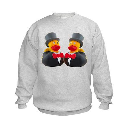 DUCK GROOMS Kids Sweatshirt