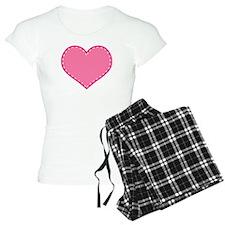 Mother Daughter Pink Heart Pajamas