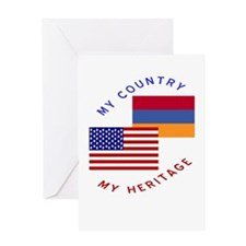 Armenia USA Flag Heritage Greeting Card