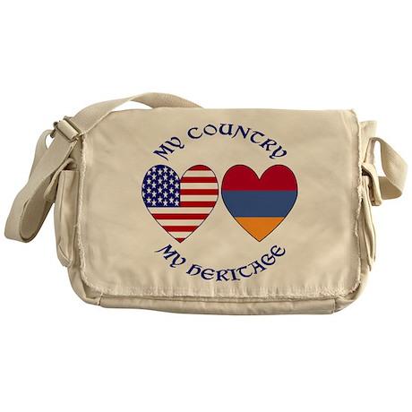 Armenia / USA Country Heritag Messenger Bag