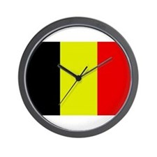Belgiun Flag 1 Wall Clock