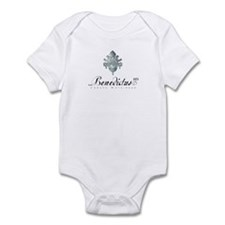 Benedict COA silver w/name Infant Creeper