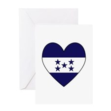 Honduran Flag Heart Greeting Card