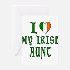 I Love My Irish Aunt Greeting Card