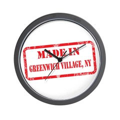MADE IN GREENWICH VILLAGE, NY Wall Clock