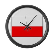 Flag of Poland Large Wall Clock