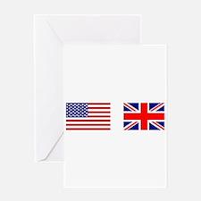 USA & Union Jack Greeting Card