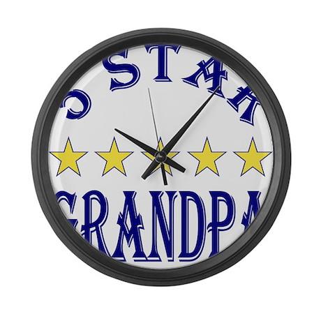 5 Star Grandpa Large Wall Clock