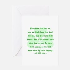 Irish Curse or Toast Greeting Card
