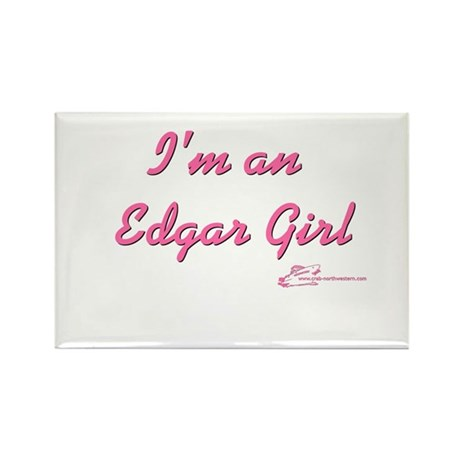 Edgar Girl Rectangle Magnet