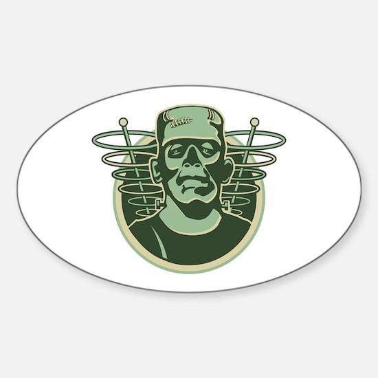 Retro Frankenstein Sticker (Oval)