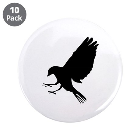 """Bird 3.5"""" Button (10 pack)"""