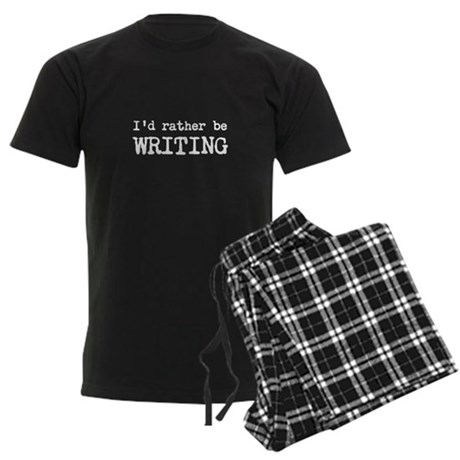 I'd Rather Be Writing Men's Dark Pajamas