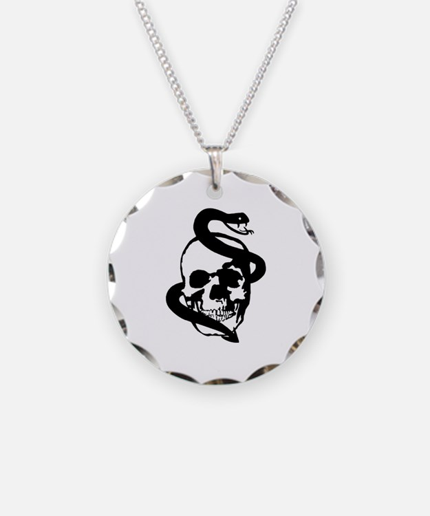 Skull Snake Necklace