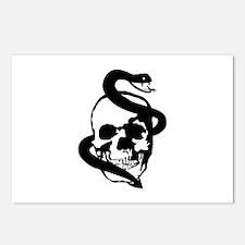Skull Snake Postcards (Package of 8)