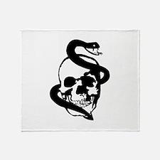 Skull Snake Throw Blanket