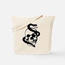 Skull Snake Tote Bag