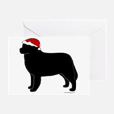 Bernese Mountain Dog Santa Greeting Card
