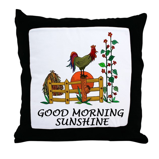 Good Morning All Caps : Good morning sunshine throw pillow by cafepets