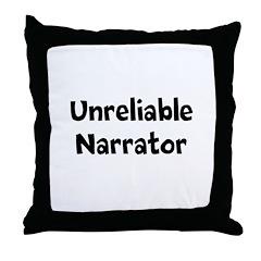 Unreliable Narrator Throw Pillow