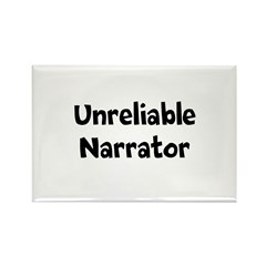 Unreliable Narrator Rectangle Magnet