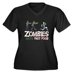 Zombies do not like Fast Food Women's Plus Size V-