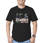 Zombies do not like Fast Food Men's Fitted T-Shirt
