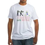 Zombies do not like Fast Food Fitted T-Shirt