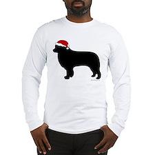 Border Collie Santa Long Sleeve T-Shirt