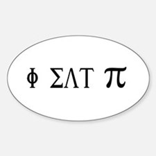 I eat Pie Oval Decal