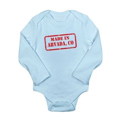 MADE IN ARVADA, CO Long Sleeve Infant Bodysuit