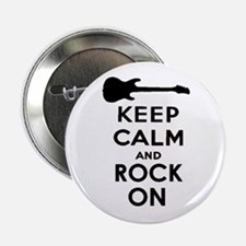 """ROCK ON 2.25"""" Button"""
