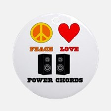Peace Love Power Chords Ornament (Round)