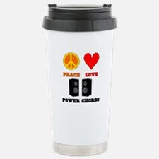 Peace Love Power Chords Travel Mug