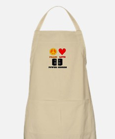 Peace Love Power Chords Apron
