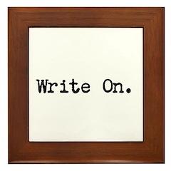 Write On Framed Tile