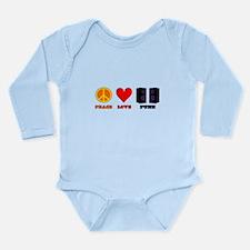 Peace Love Punk Long Sleeve Infant Bodysuit