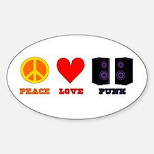 Peace Love Punk Sticker (Oval)