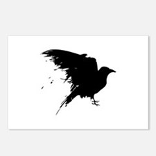 Grunge Bird Postcards (Package of 8)