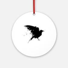 Grunge Bird Ornament (Round)