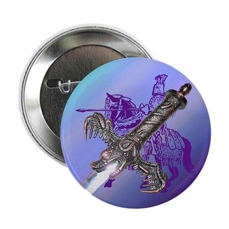 "Knight & Sword 2.25"" Button (100 pack)"