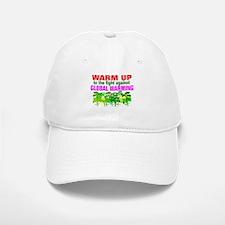 Warm 2 war on global warming Baseball Baseball Cap