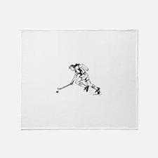 Unique Field hockey girl Throw Blanket