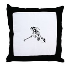 Unique Field hockey girl Throw Pillow