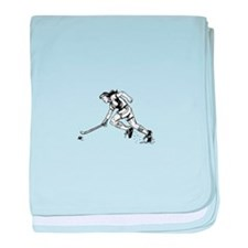 Cute Field hockey girl baby blanket