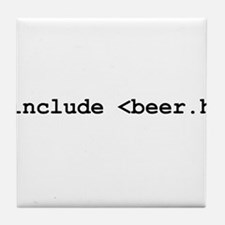 #include <beer.h> Tile Coaster