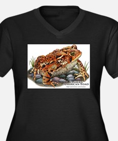 Eastern American Toad Women's Plus Size V-Neck Dar